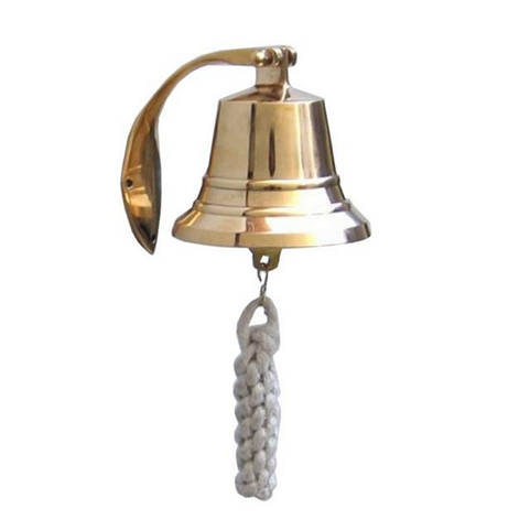 Brass Plated Hanging Harbor Bell 4
