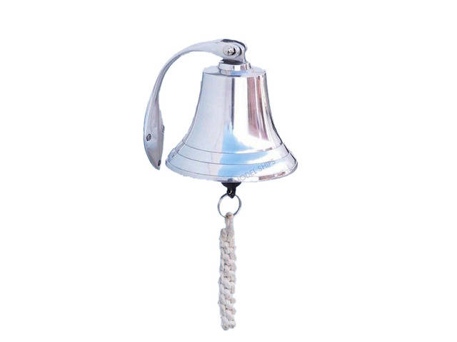 Chrome Hanging Harbor Bell 5.5