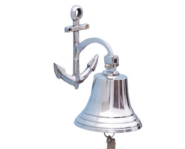 Chrome Hanging Anchor Bell 10