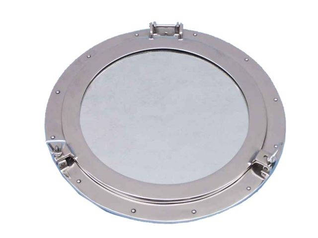 Chrome Decorative Ship Porthole Mirror 24