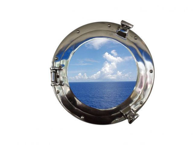 Chrome Decorative Ship Porthole Window 12