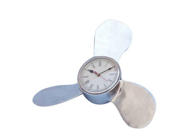 Chrome Ships Propeller Clock 18