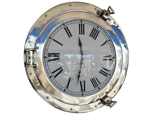 Chrome Decorative Ship Porthole Clock 20