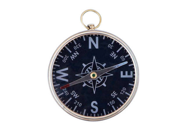 Solid Brass Admiralandapos;s Black Faced Compass 4