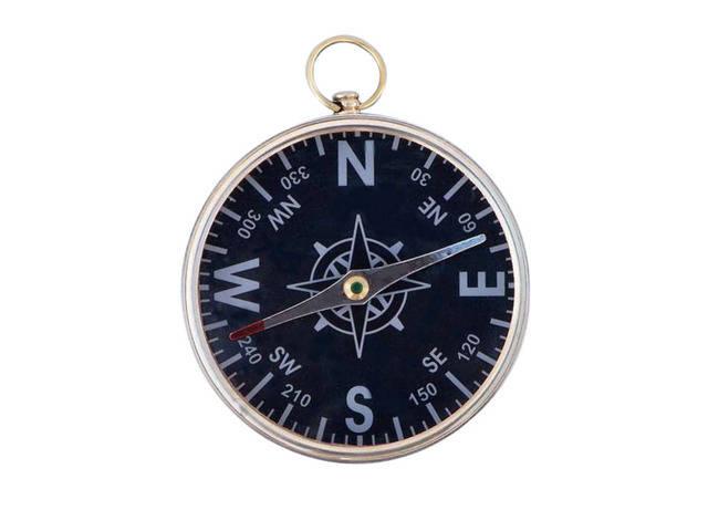Solid Brass Admirals Black Faced Compass 4