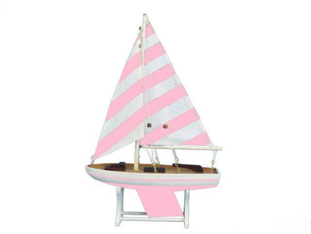 Wooden Decorative Sailboat Model Mermaid Princess 12