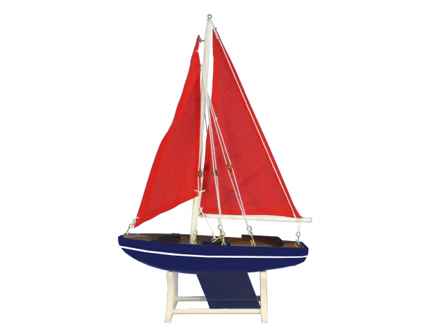 Wooden Decorative Sailboat Model American Sea 12