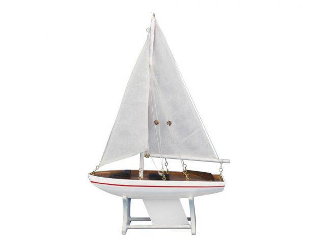 Wooden Decorative Sailboat Model Intrepid 12