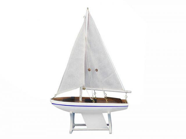 Wooden It Floats Calm Seas Model Sailboat 12