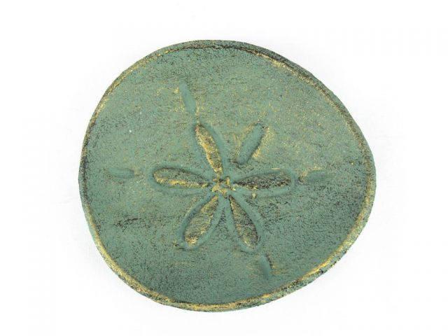 Antique Bronze Cast Iron Sand Dollar Decorative Plate 6