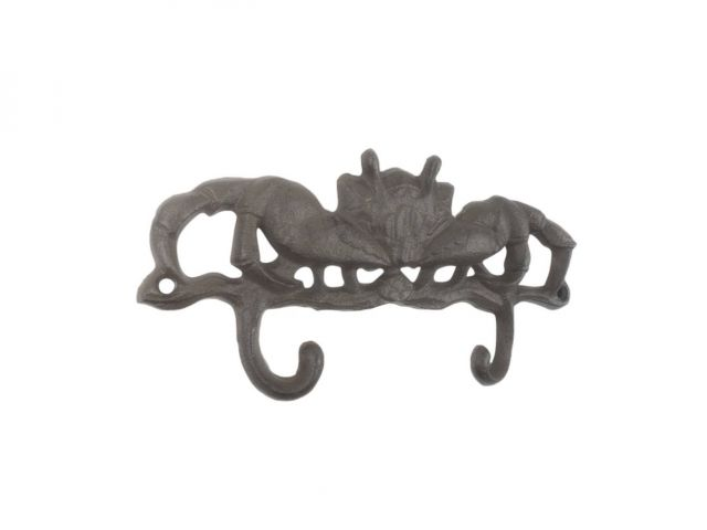 Cast Iron Decorative Crab Metal Wall Hooks 10.5