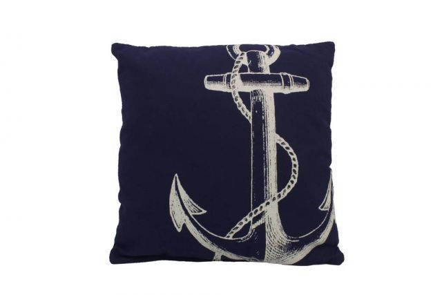 Blue and White Anchor Decorative Throw Pillow 14