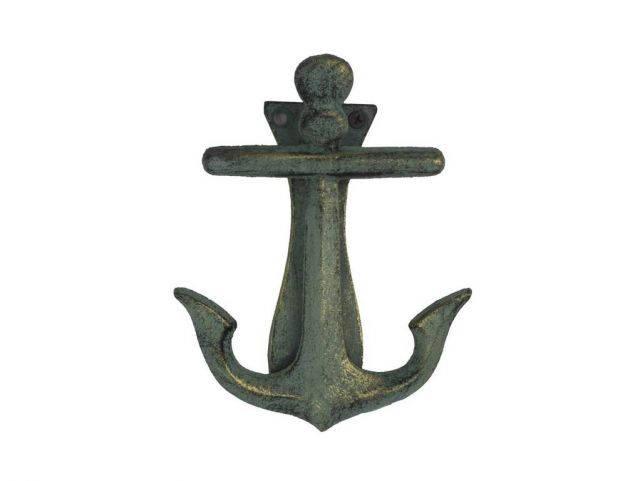 Antique Bronze Cast Iron Decorative Anchor Door Knocker 6