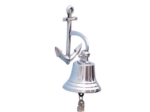 Chrome Hanging Anchor Bell 8
