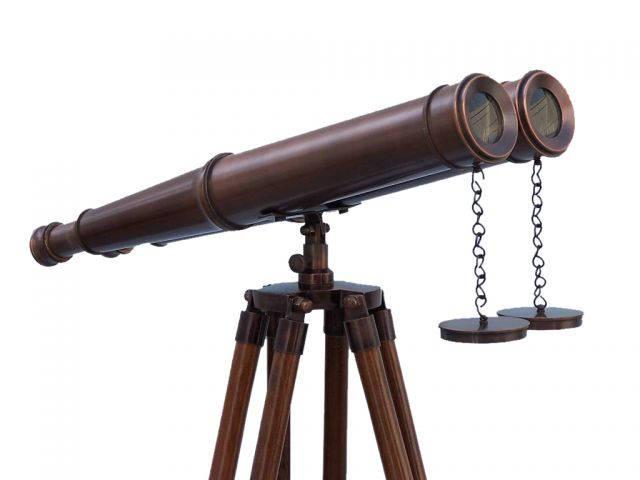 Floor Standing Bronzed Binoculars 62