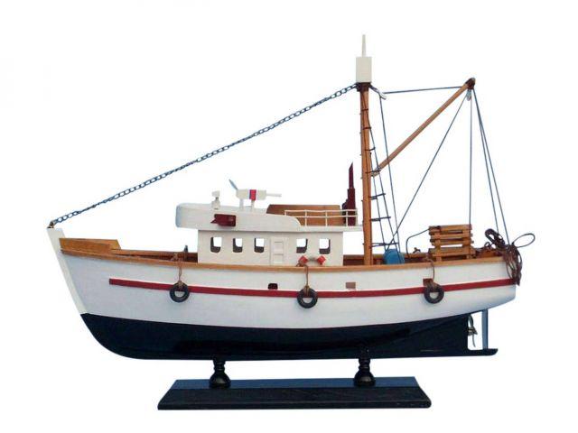 Wooden Fish Stalker Model Fishing Boat 14