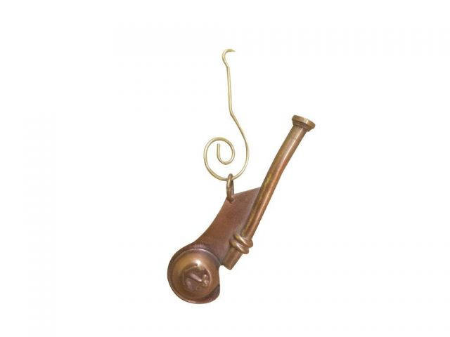 Antique Copper Bosun Whistle Christmas Ornament 4