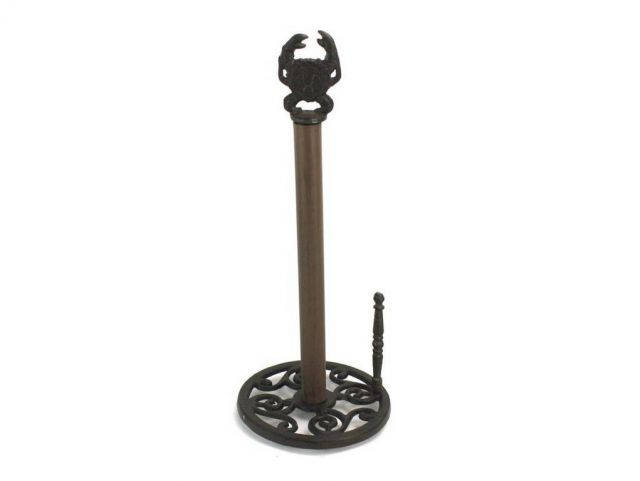 Cast Iron Crab Paper Towel Holder 16