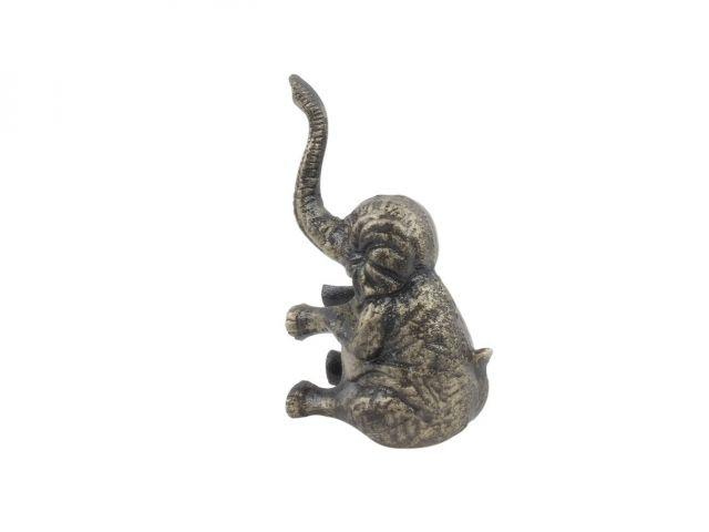 Rustic Gold Cast Iron Elephant Metal Door Stop 8