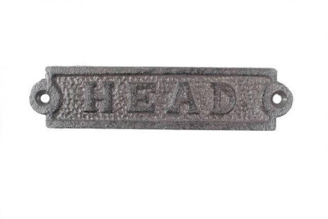 Cast Iron Head Sign 6