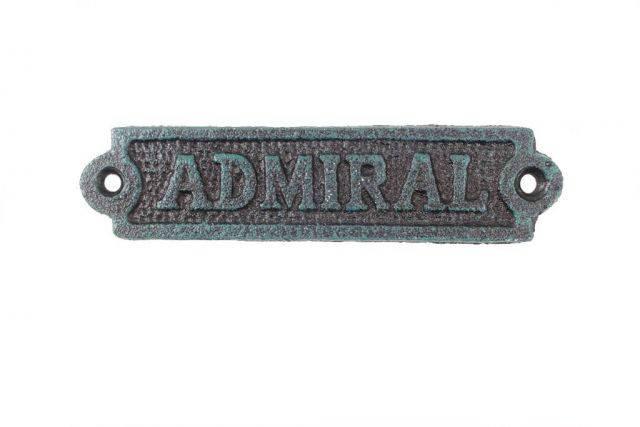 Seaworn Blue Cast Iron Admiral Sign 6