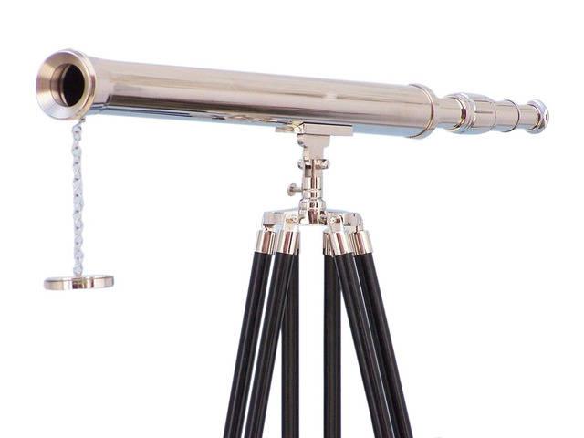 Floor Standing Chrome Harbor Master Telescope 60