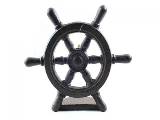 Cast Iron Ship Wheel Door Stopper 9