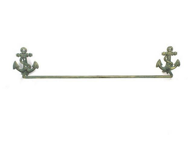 Antique Bronze Cast Iron Anchor Bath Towel Holder 27