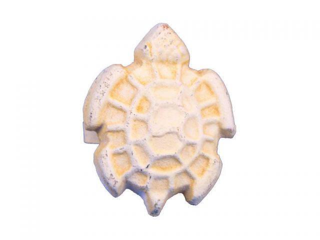Antique White Cast Iron Turtle Decorative Napkin Ring 2 - set of 2