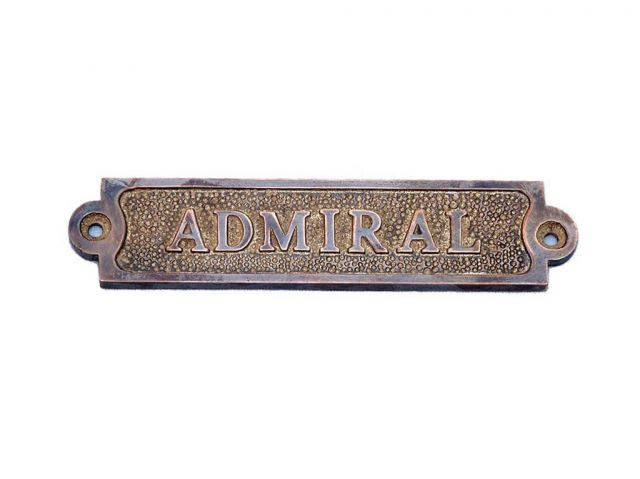Antique Copper Admiral Sign 6