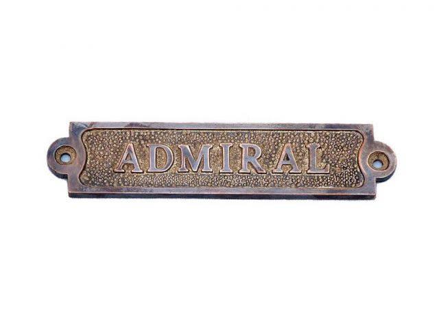 Antique Copper Admiral Sign 6
