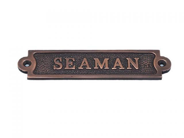 Antique Copper Seaman Sign 6
