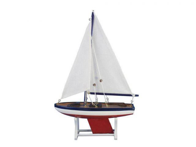 Wooden Decorative American Model Sailboat 12