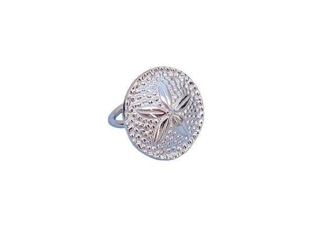 Chrome Sand Dollar Napkin Ring 2