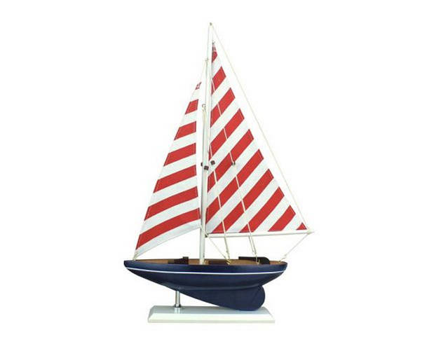 Wooden Nautical Delight Model Sailboat 17