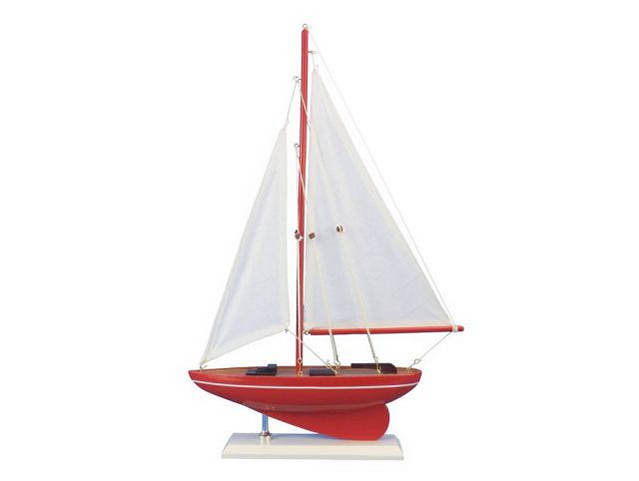 Wooden Compass Rose Model Sailboat 17