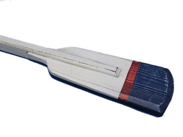 Wooden Winthrop Decorative Squared Rowing Boat Oar w- Hooks 36