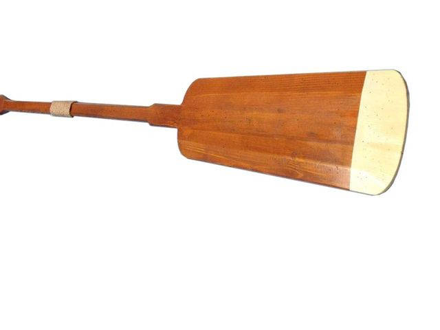 Wooden Hamilton Squared Decorative Rowing Boat Oar w- Hooks - 62