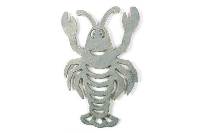 Antique Seaworn Bronze Cast Iron Lobster Trivet 11