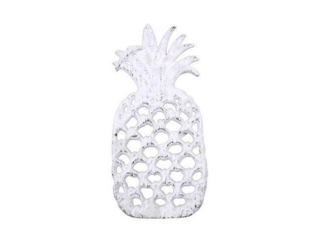 Whitewashed Cast Iron Pineapple Trivet 9
