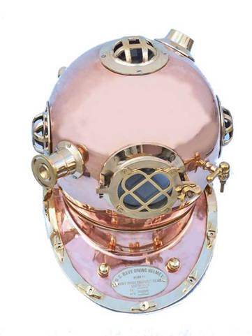 Copper Decorative Divers Helmet, Mark IV 18