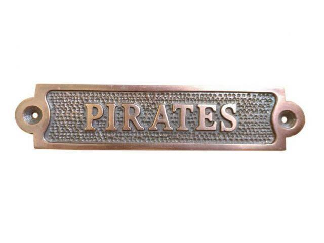 Antique Copper Pirates Sign 6