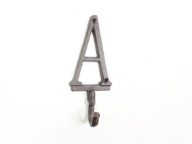 Cast Iron Letter A Alphabet Wall Hook 6