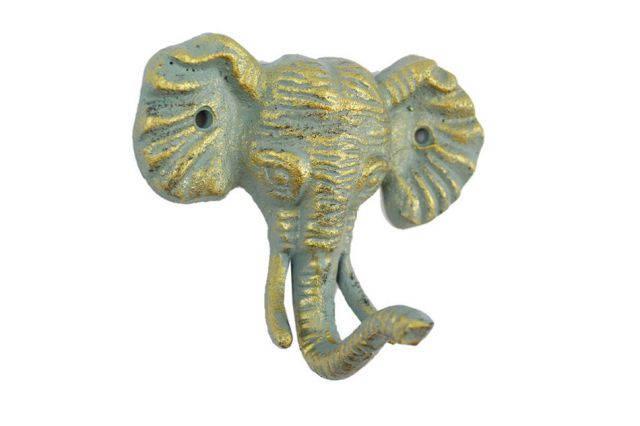 Antique Seaworn Bronze Cast Iron Elephant Hook 5