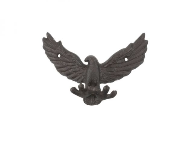 Cast Iron Flying Eagle Decorative Metal Talons Wall Hooks 6