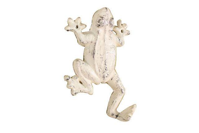 Whitewashed Cast Iron Frog Hook 6