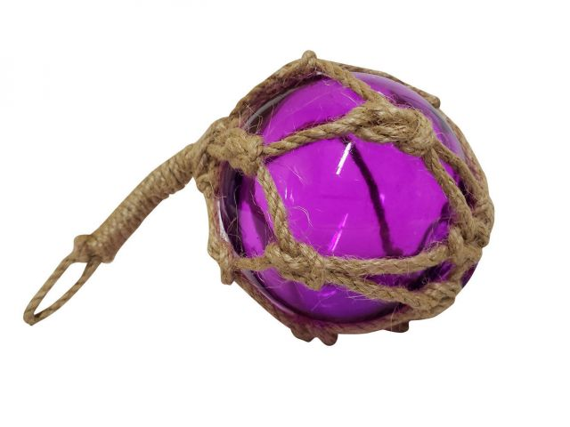 Purple Japanese Glass Ball Fishing Float Decoration Christmas Ornament 4