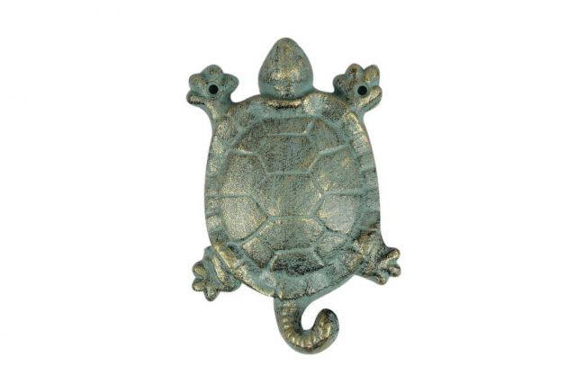 Antique Bronze Cast Iron Turtle Key Hook 6