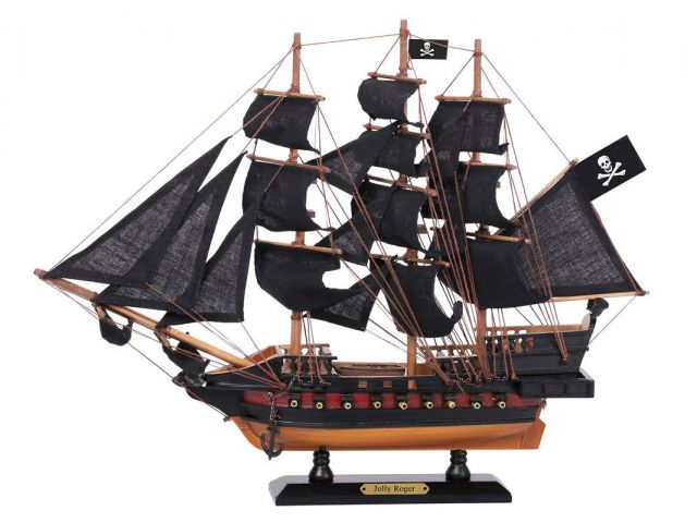 Wooden Captain Hooks Jolly Roger from Peter Pan Black Sails Limited Model Pirate Ship 15