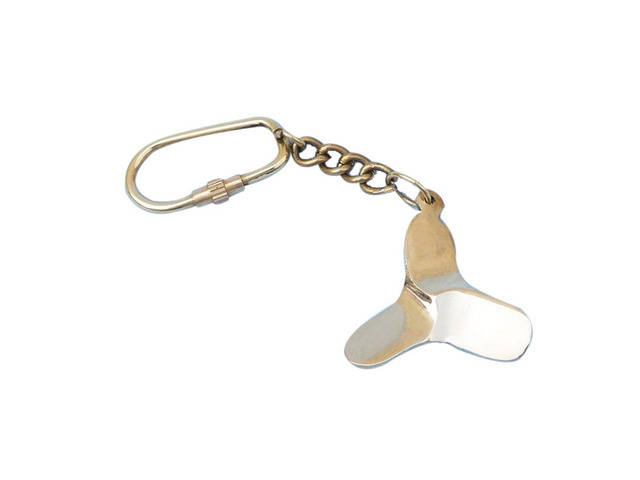 Solid Brass Titanic Propeller Key Chain 5